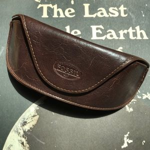 Fossil Eyeglass Case Leather Brown EUC👀😎